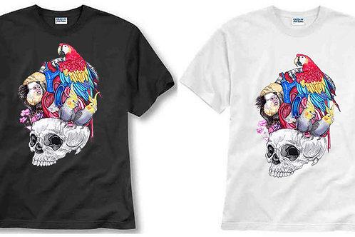 T-shirt ilustrada El dios de los tres Vanitas