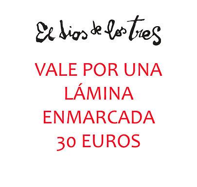 Lamina enmarcada 30 euros