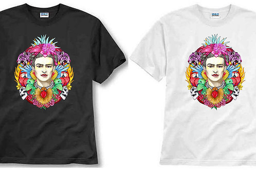 T-shirt ilustrada El dios de los tres CORAZÓN DE FRID