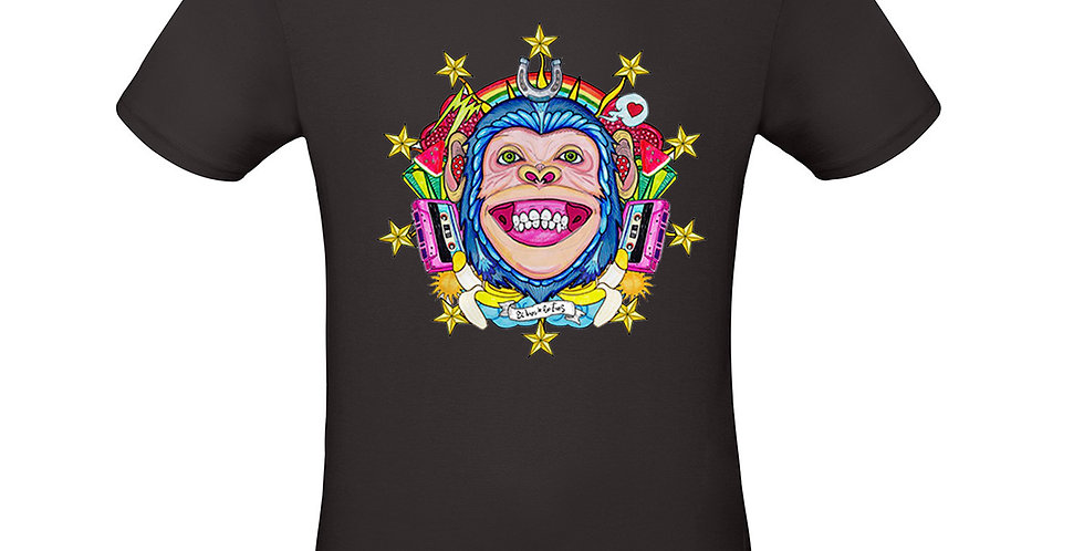 T-shirt ilustrada El dios de los tres Human Monkey