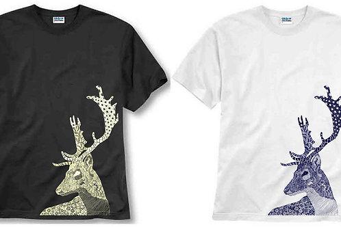 T-shirt ilustrada El dios de los tres Ciervo