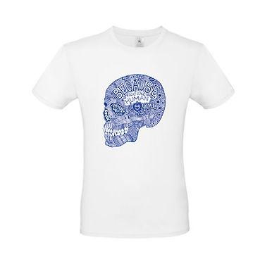 Camiseta CRANEO AZUL
