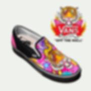 zapatillas ilustradas el dios de los tres