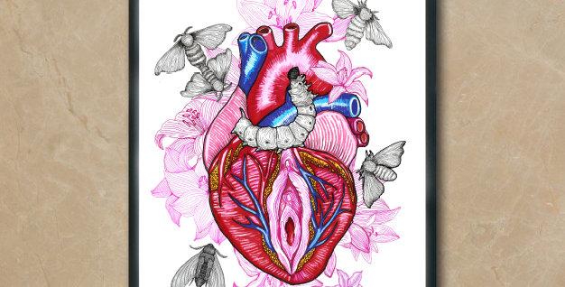 Corazón vagina