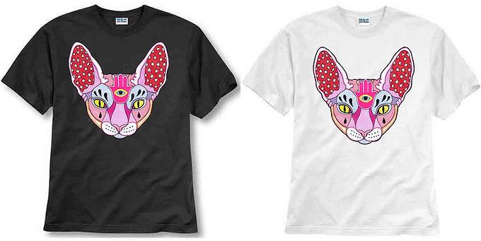T-shirt ilustrada El dios de los tres Sphinx