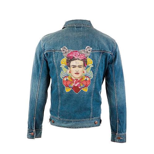 """Parche textil """"Frida""""  el dios de los tres TAMAÑO MEDIANO"""