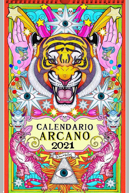CALENDARIO ILUSTRADO ARCANOS DEL TAROT 2021