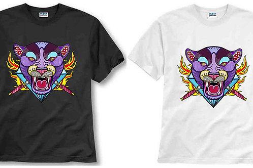 T-shirt ilustrada El dios de los tres Pantera