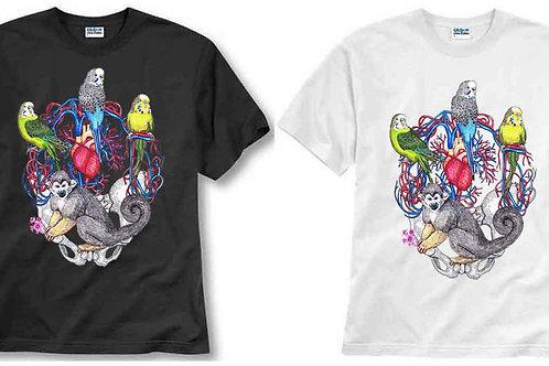 T-shirt ilustrada El dios de los tres Heart Beat