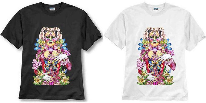 T-shirt ilustrada El dios de los tres Björk