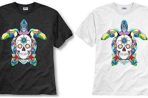 T-shirt ilustrada El dios de los tres TORTUGA PIRATA