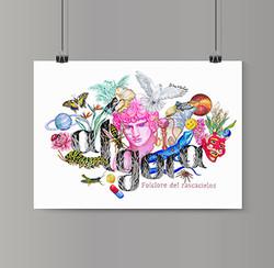 algora-ilustracion-folclore-del-rascacielos-poster