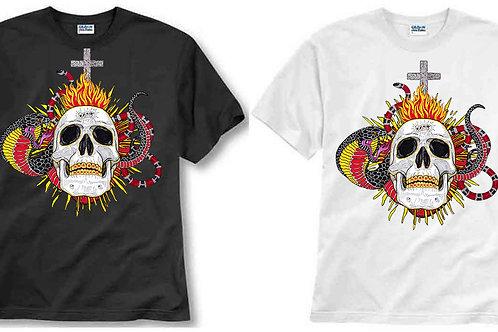 T-shirt ilustrada El dios de los tres Sagrado Corazón