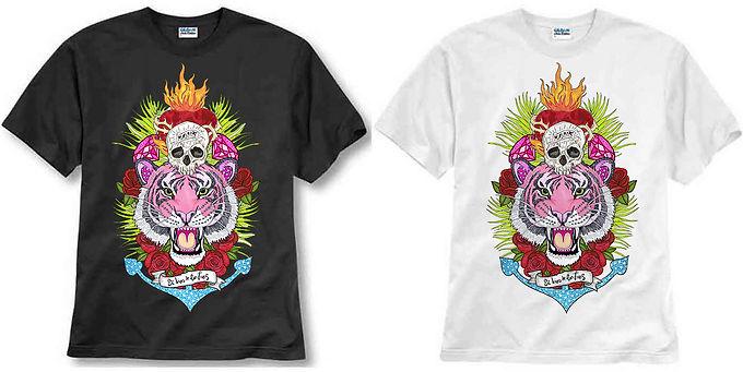 T-shirt ilustrada El dios de los tres Ancla