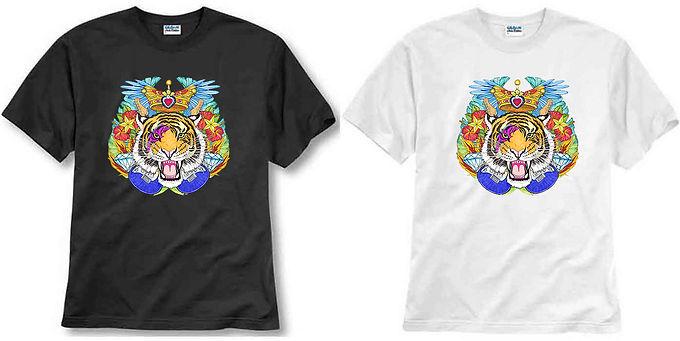 T-shirt ilustrada El dios de los tres RockTigre