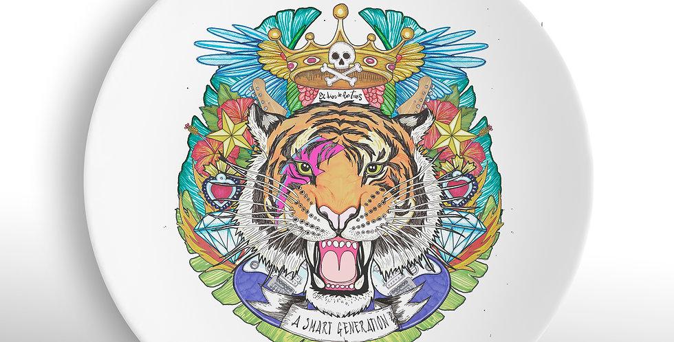 Plato cerámico Tigre