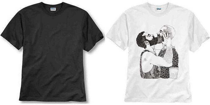 T-shirt ilustrada El dios de los tres  Barbitas