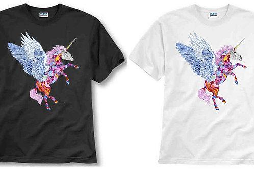 T-shirt ilustrada El dios de los tres Pegaso