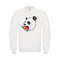 sudadera-ilustracion-panda-on-fire-blanc
