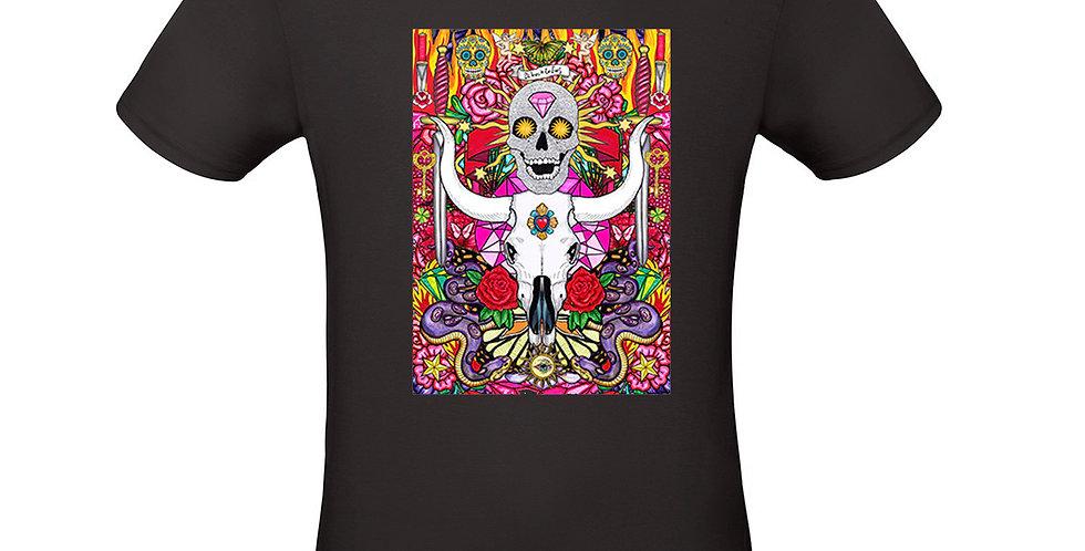 T-shirt ilustrada El dios de los tres Voodoo