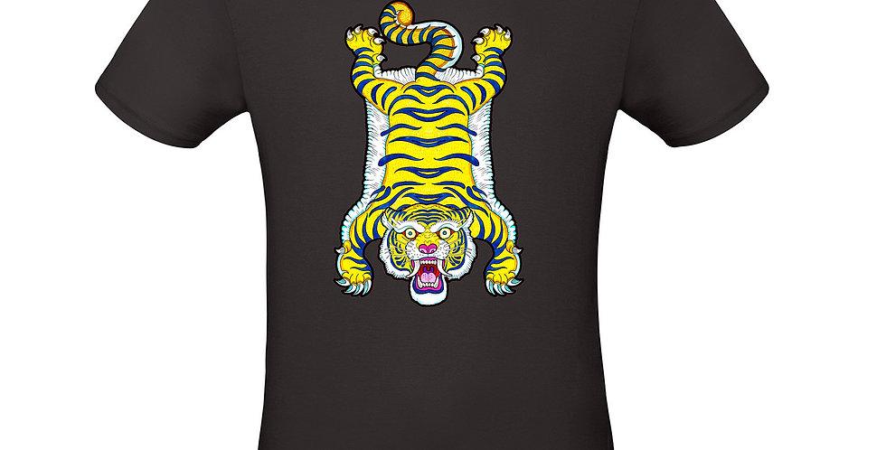 T-shirt ilustrada El dios de los tres  Tigre Tibetano