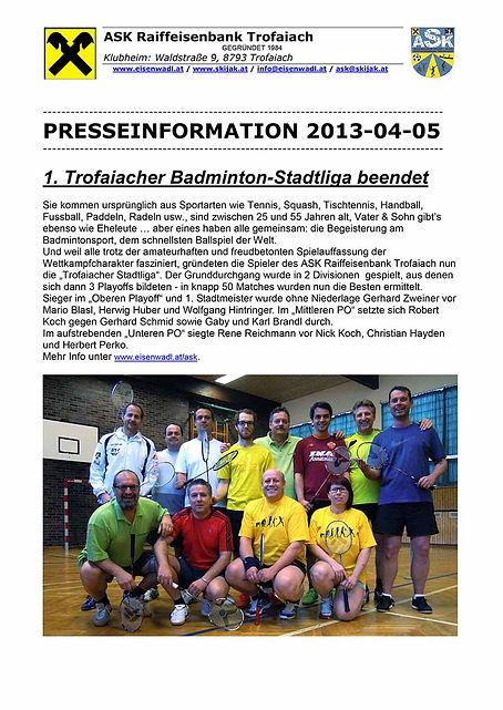 presseaussendung badminton stadtliga 201