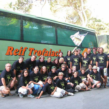 Die Schülertruppe der BHAK Eisenerz mit Betreuern und Fahrer