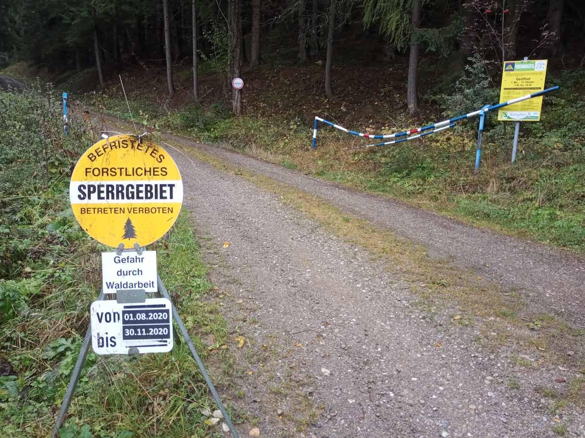Saisonsperre am Silbersberg
