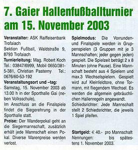 2003-10 hallenturnier ankündigung treff.