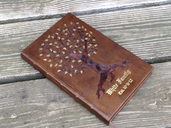 Antique Brown Tree book