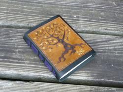 tree with purple thread gilded leaves