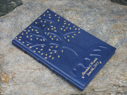 Gilded Leaves Tree Book
