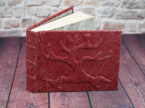 Tree of Life Distressed Red Leather