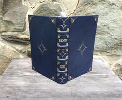 Dark Blue Gilded Book
