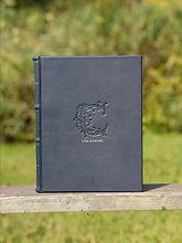 printed custom leather book