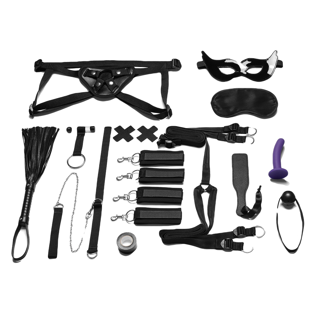 Everything You Need BDSM in-a-Box 12pc Bedspreaders Set