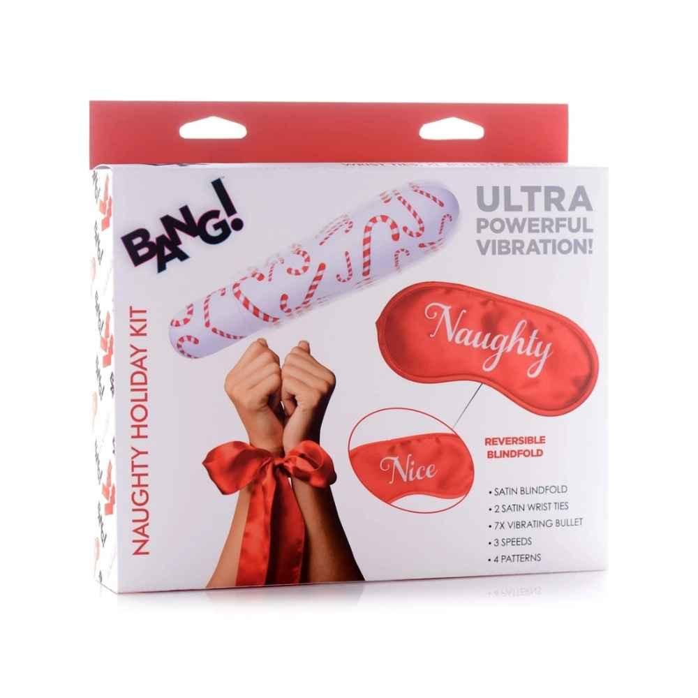 Naughty Ties Promo - Bang! Naughty Holiday Gift Kit -  Wrist Ties XL Bullet and Blindfold