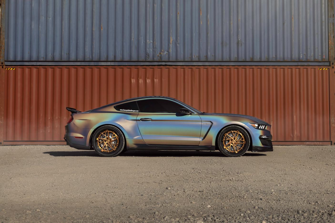 GT350 Wrap, Tint, Custom Wheels
