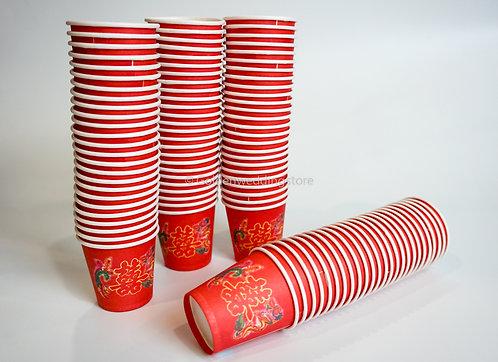 纸杯子 (小) (50杯) Red Paper Cup (Small) (50 PCS)