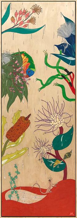 'rainfall', 90 x 30cm, coloured pencil o