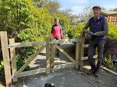 Pete assembled  gates