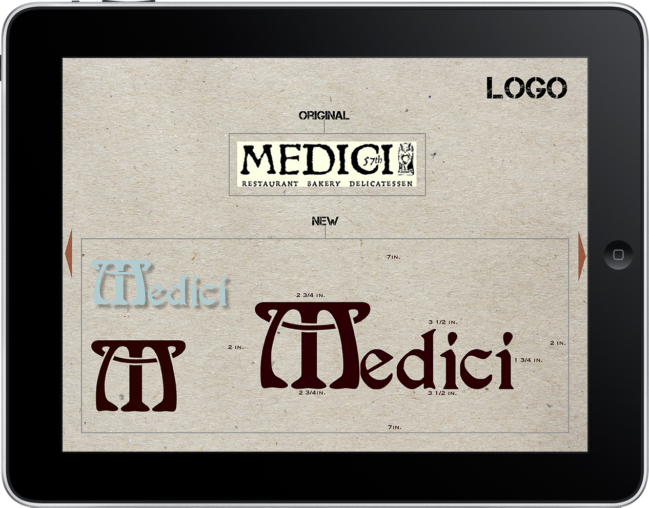 Medici Restaurant Branding Manual