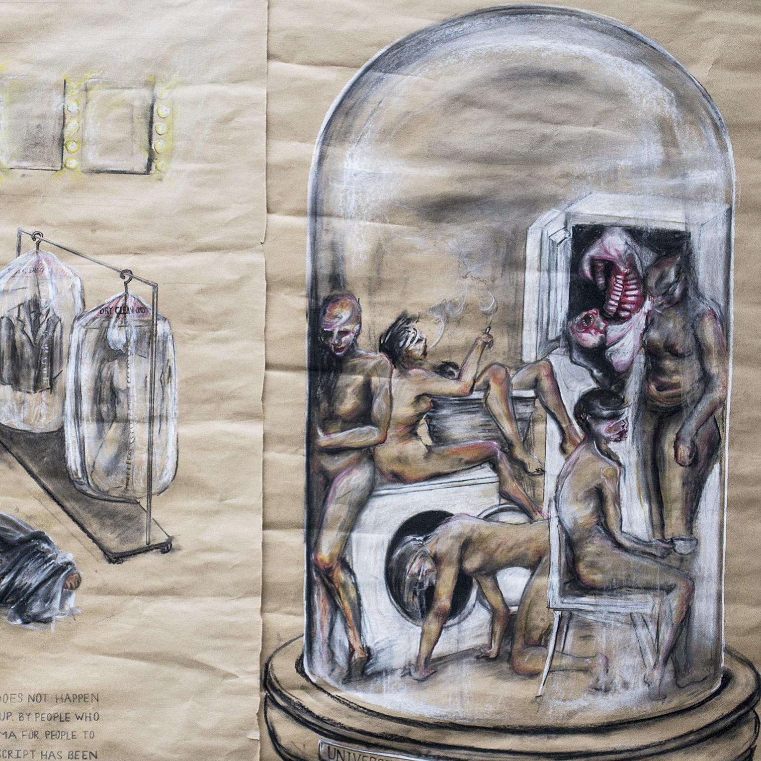 """Hamletmachine"" concept sketches"
