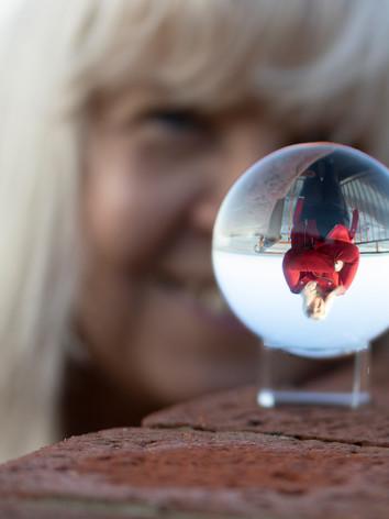 Portrait in glass ball