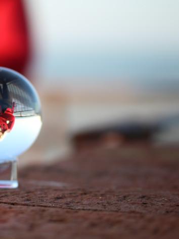 Portrait in glass ball 2