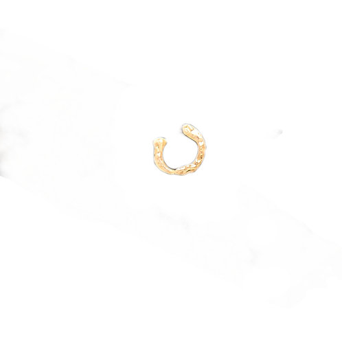 'Piercing' Argolinha Raw - Ouro 18k