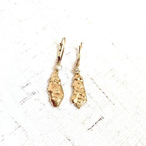 Brinco Pêndulo - Ouro 18k e Diamante
