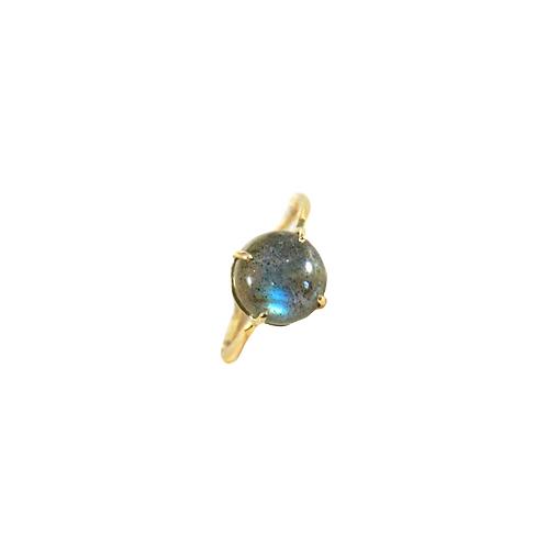 Anel irregular com pedra labradorita em ouro 18k - Julia toledo joias