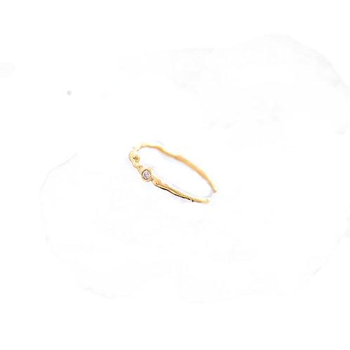 Anel Clara - Ouro 18k e Diamante