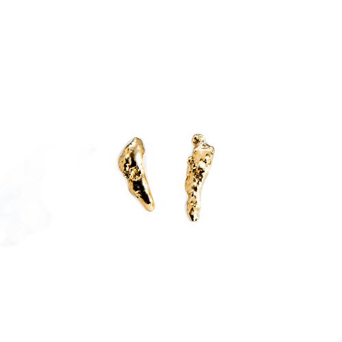 Brincos Pepita Raw - Ouro 18k
